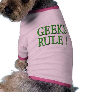 Geeks Rule Green Pet T-shirt