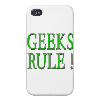 Geeks Rule ! Green Cover For iPhone 4