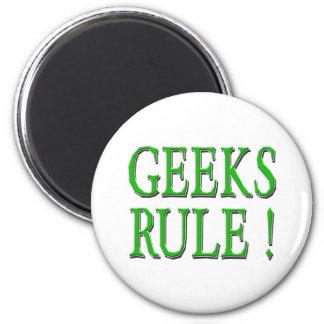 Geeks Rule !  Green Magnets