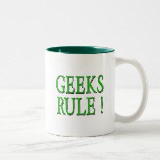 Geeks Rule !  Green Coffee Mugs