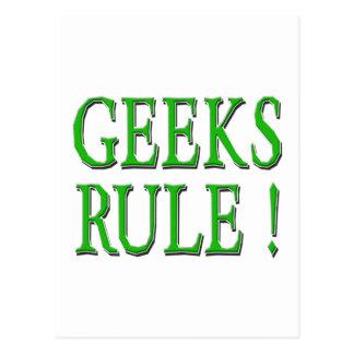 Geeks Rule !  Green Postcard