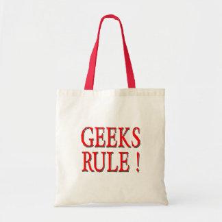 Geeks Rule !  Red Canvas Bags