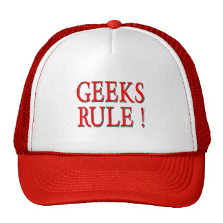 Geeks Rule !  Red Trucker Hat