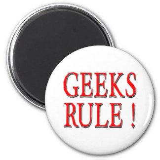 Geeks Rule !  Red Fridge Magnet