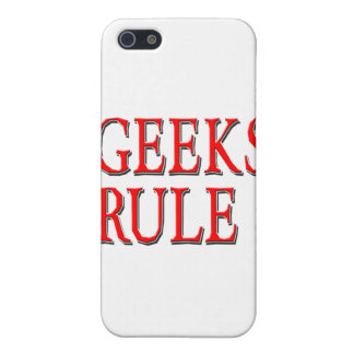 Geeks Rule ! Red Case For iPhone 5
