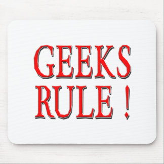 Geeks Rule !  Red Mouse Pad