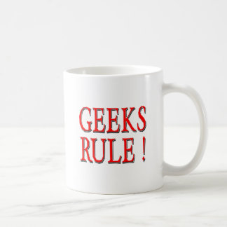 Geeks Rule !  Red Mugs