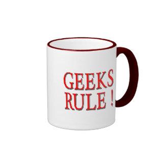 Geeks Rule !  Red Coffee Mug