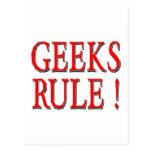 Geeks Rule !  Red Post Card