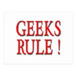 Geeks Rule !  Red Post Cards