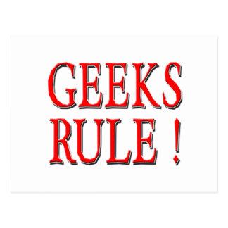 Geeks Rule !  Red Postcard