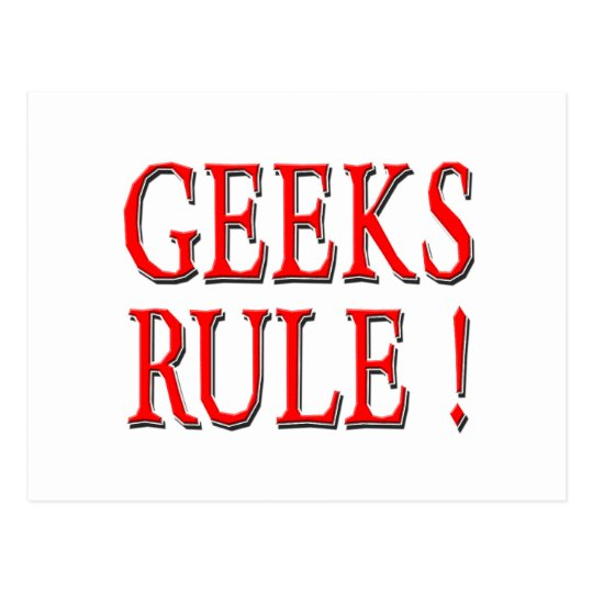 Geeks Rule !  Red Postcard