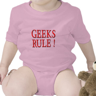 Geeks Rule !  Red Tee Shirts