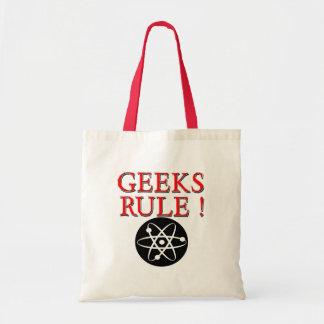 Geeks Rule !  with Atom Canvas Bag