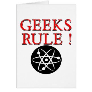 Geeks Rule with Atom Cards