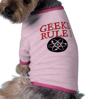 Geeks Rule with Atom Dog Tshirt