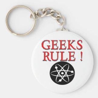 Geeks Rule !  with Atom Keychains