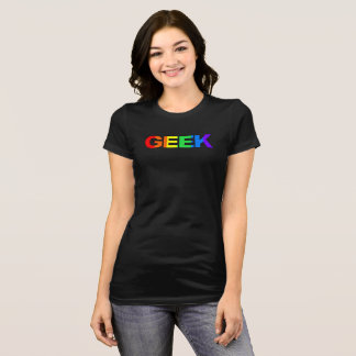Geeky and Queer As. T-Shirt