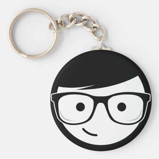 Geeky Basic Round Button Key Ring