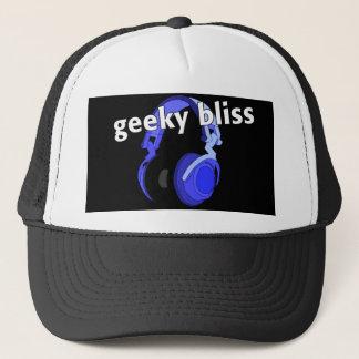 Geeky Bliss Headphones Cap Cartoon Digital Art