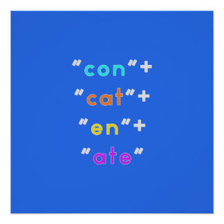 """Geeky (but stylish!) """"Concatenate"""" poster"""