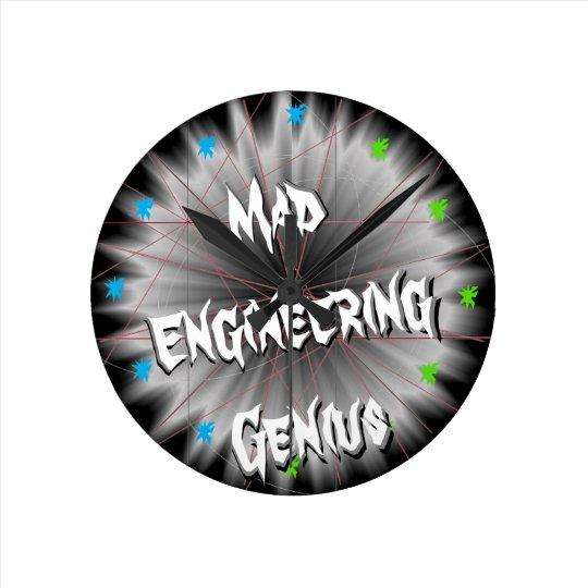 Geeky Clock Mad Engineering STEM Science Geek