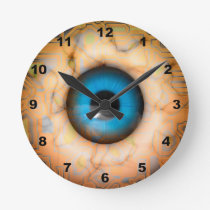 Geeky curcuit board Eye Wall Clock