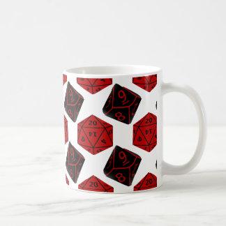 Geeky Dice Basic White Mug