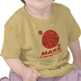 Geeky Fun I Heart The Red Planet Mars Tee