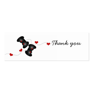 Geeky Gamer Wedding Thank You Mini Cards (Dark) Pack Of Skinny Business Cards