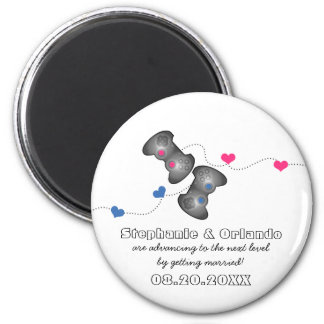 Geeky Gamers Save the Date Magnet