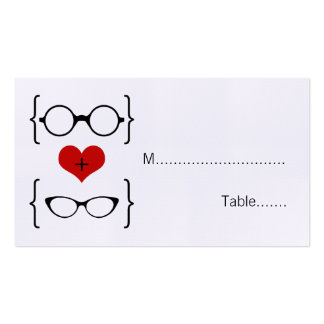 Geeky Glasses Wedding Place Cards Pack Of Standard Business Cards