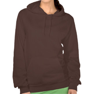 Geeky I Heart Caffeine Molecules Funny Coffee Hooded Sweatshirt