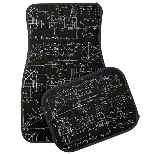 Geeky Math Mathematics Car Mat
