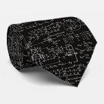 Geeky Math Mathematics Men's Black Necktie