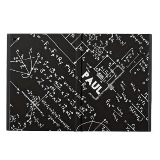 Geeky Math Mathematics Nerd Personalized iPad Air Covers