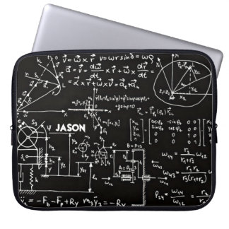 Geeky Math Mathematics Personalized Laptop Sleeve