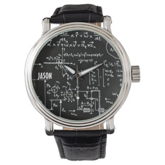 Geeky Math Mathematics Personalized Wristwatches
