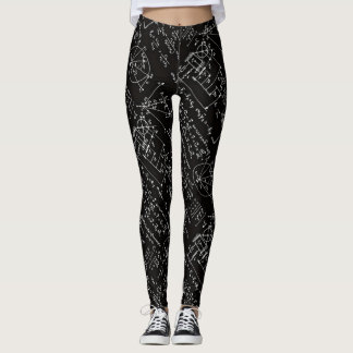 Geeky Math Mathematics Womens Yoga Running Leggings