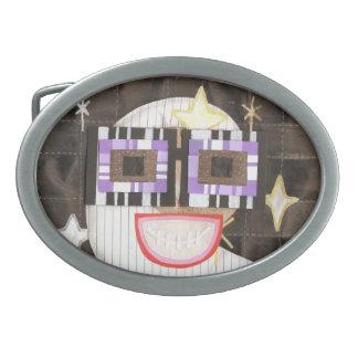 Geeky Moon Buckle Oval Belt Buckle