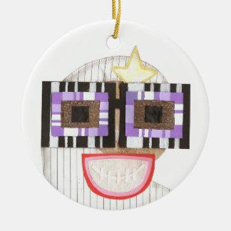 Geeky Moon Ornament