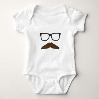 Geeky Moustache Baby Bodysuit