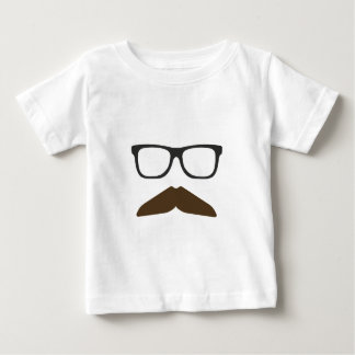 Geeky Moustache Baby T-Shirt