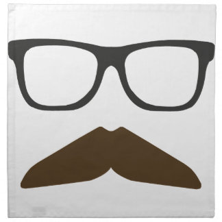 Geeky Moustache Printed Napkin