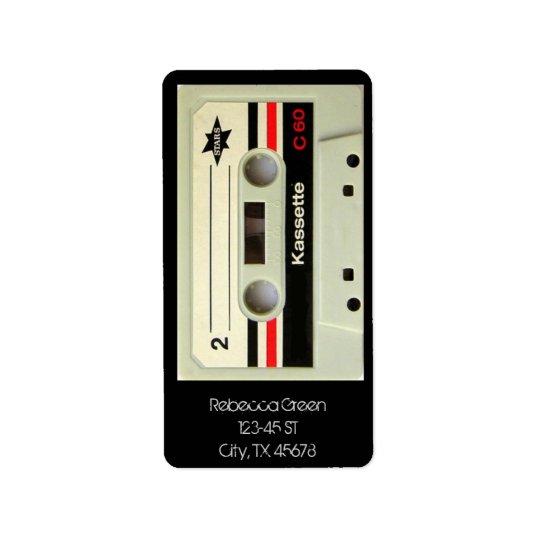 Geeky nerdy 1980s cassette retro cassette tape address label