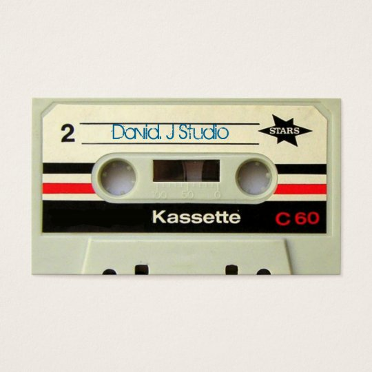 Geeky nerdy 1980s cassette retro cassette tape business