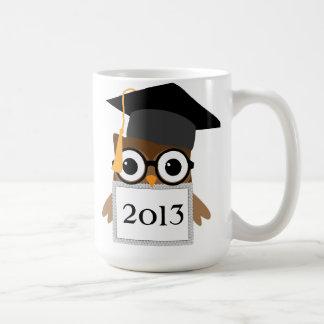 Geeky Owl with Grad Cap Class Of Graduation Mug