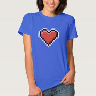 Geeky red pixel heart shirt