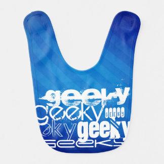 Geeky, Royal Blue Stripes Bib