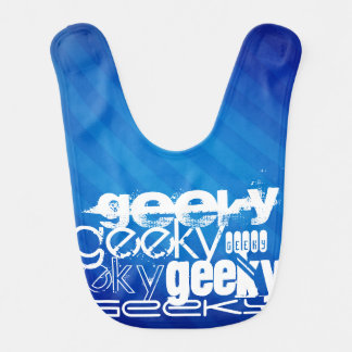 Geeky, Royal Blue Stripes Baby Bibs